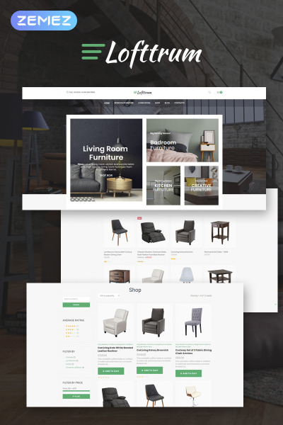 Lofttrum - Furniture Online Shop Elementor