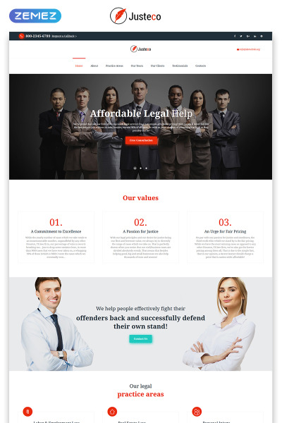 Law Firm Responsive Template Di Landing Page