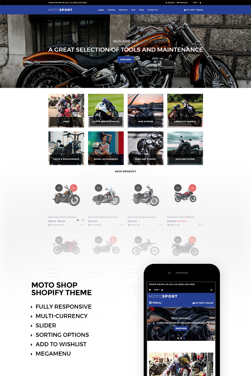 Motosport Responsive Shopify Theme