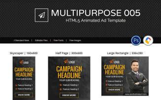 Multipurpose Banner (MU005) Animated Banner