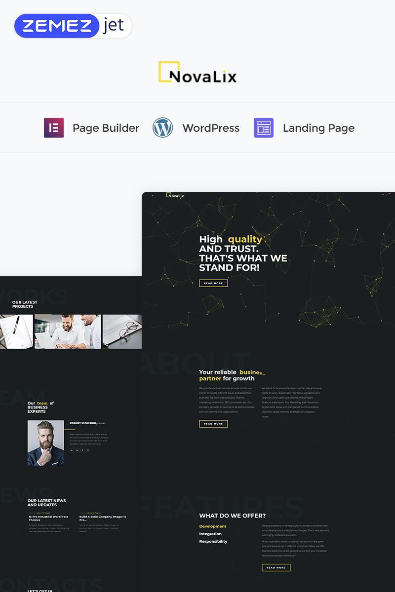 Novalix - Creative Elementor WordPress Landing Page Template