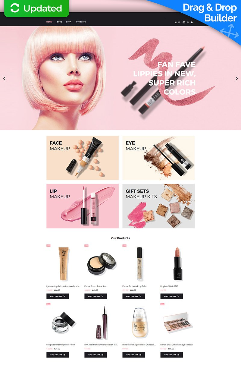 Paletto - Cosmetic Store Template Ecommerce MotoCMS №73423