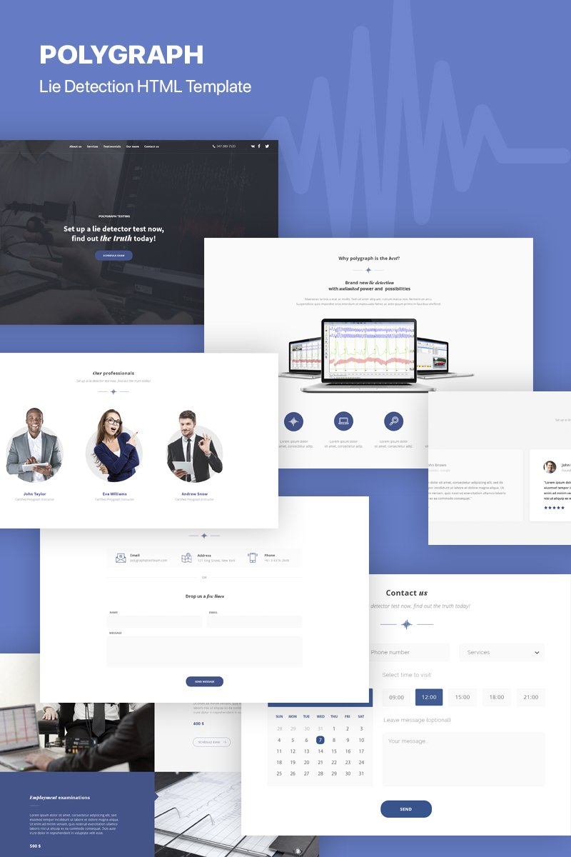 Polygraph - Lie Detection Landing Page Template