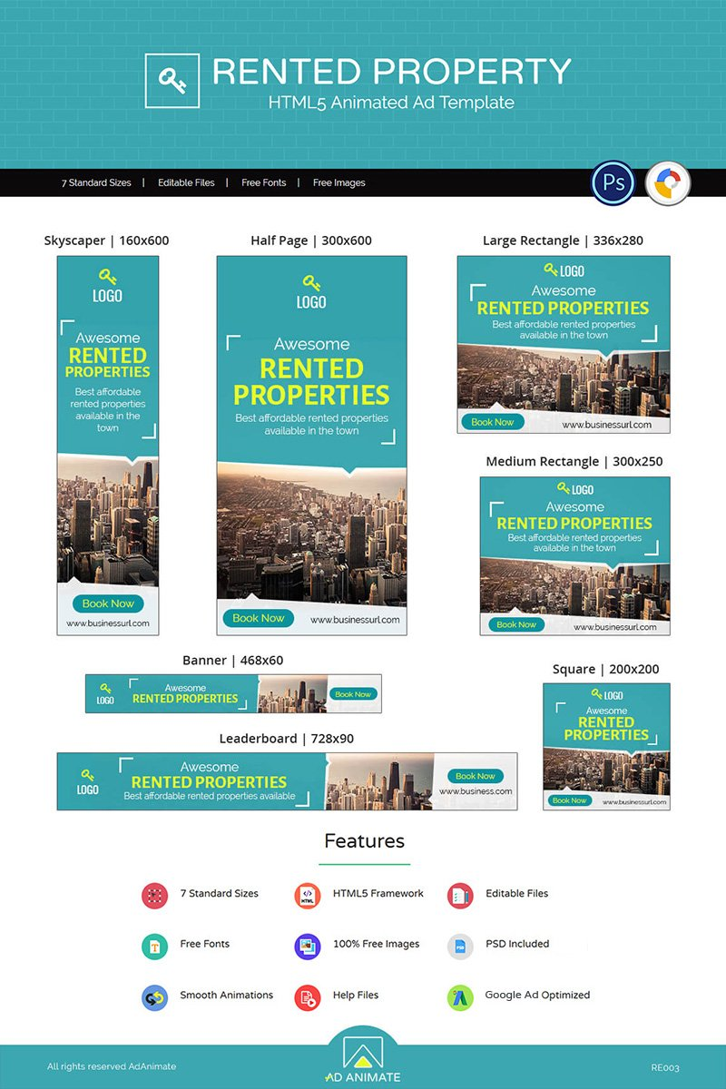 Real Estate | Rented Property Ad Animated Banner - screenshot