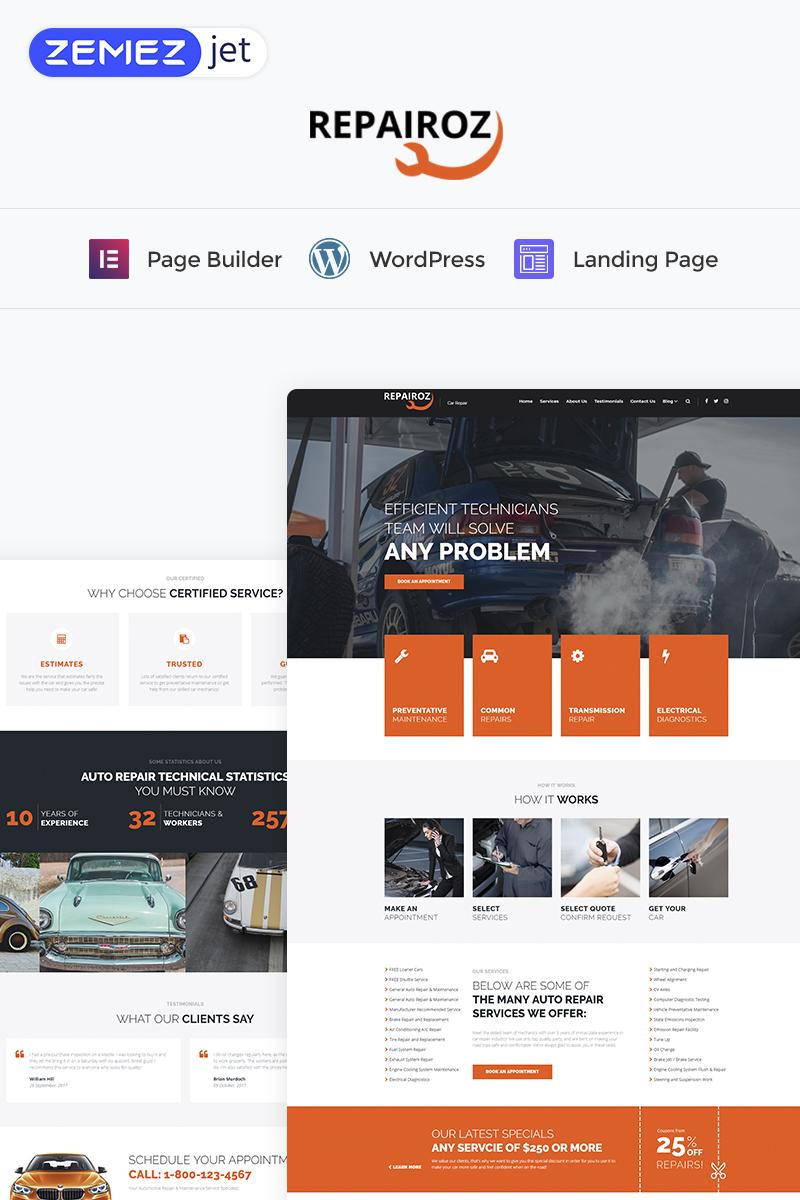 Repairoz - Car Repair Elementor WordPress Landing Page Template