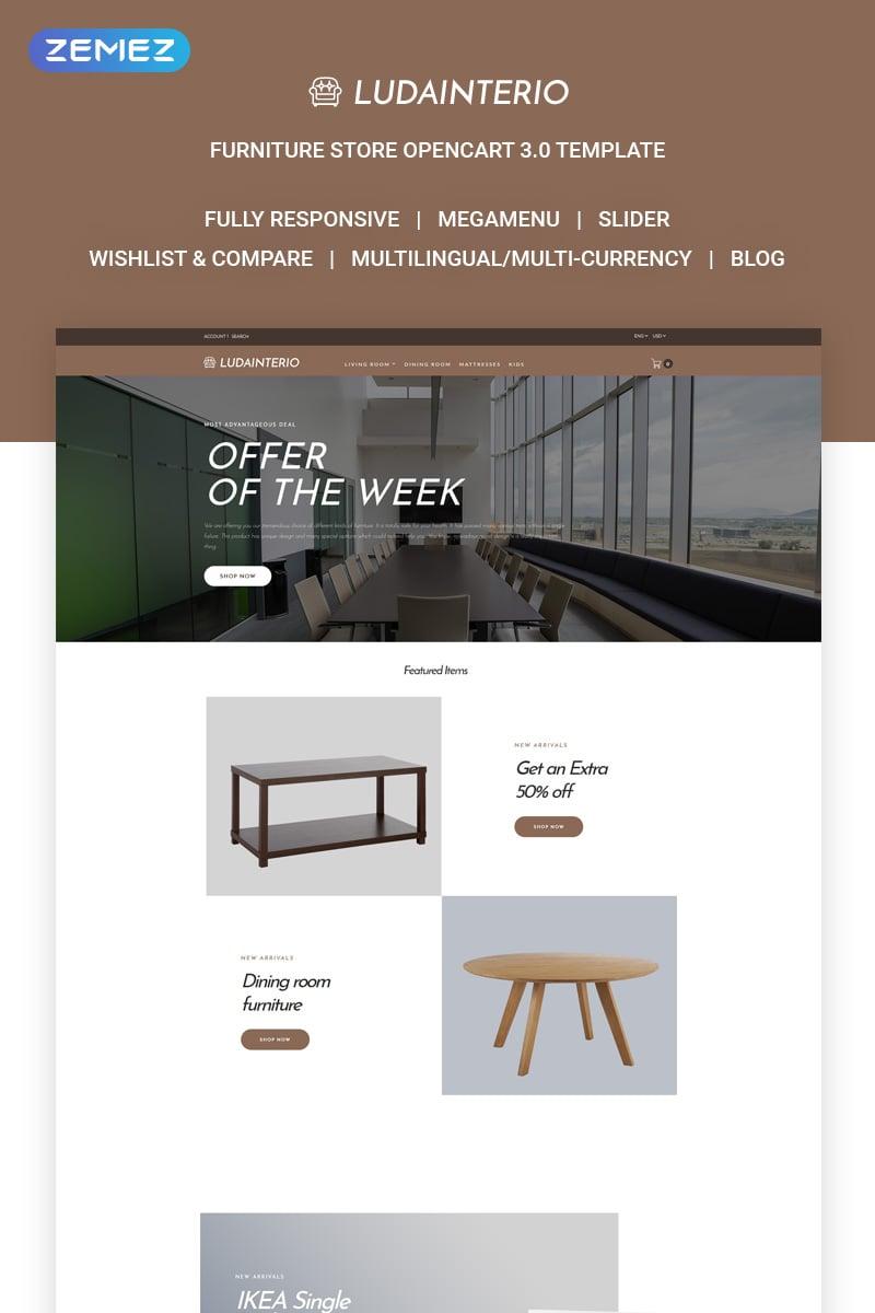 Responsivt Ludainterio OpenCart-mall #73468