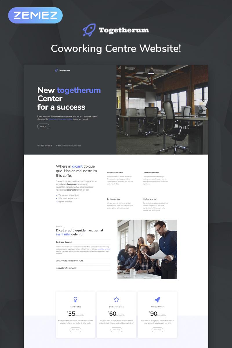 Responsywny motyw WordPress Togetherum - Coworking Centre Elementor #73454 - zrzut ekranu
