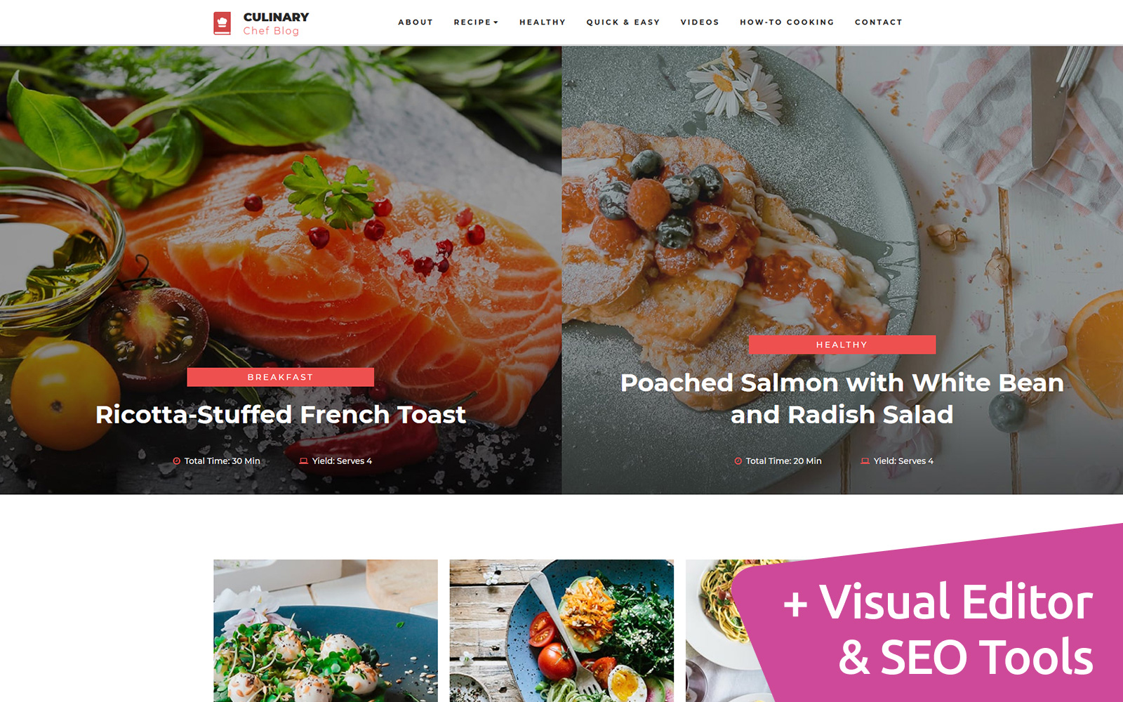 Reszponzív Culinary - Recipe Moto CMS 3 sablon 73444