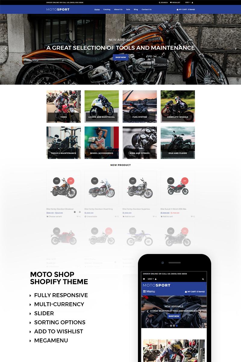 Reszponzív Motosport Responsive Shopify sablon 73470 - képernyőkép