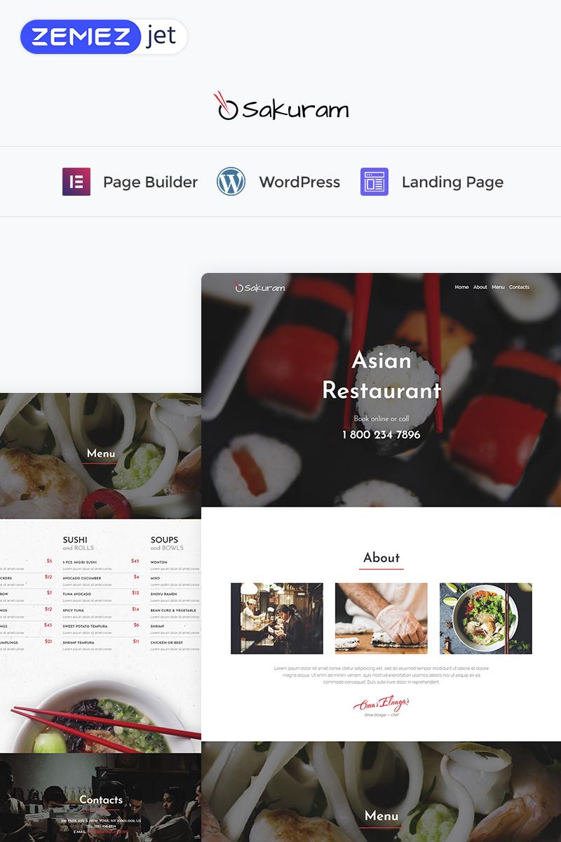 Sakuram - Landing Elementor WordPress Themes Landing Page Template - screenshot
