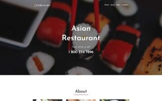 Sakuram - Landing WordPress Elementor Themes Landing Page Template