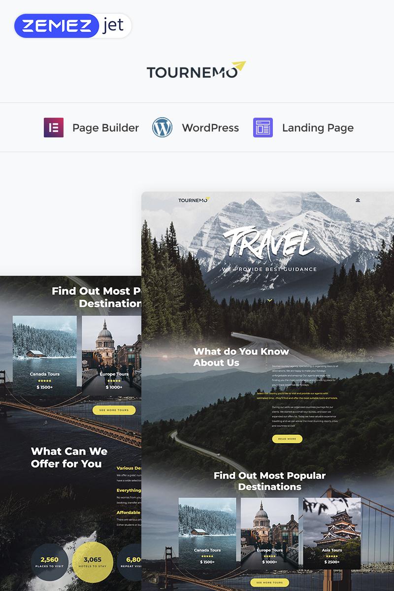 Tournemo - Travel Elementor WordPress Templates de Landing Page №73457