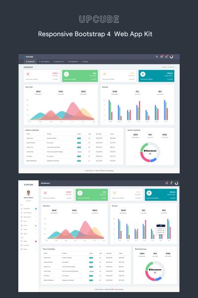 Upcube - Responsive Web App Kit Admin Template #73443
