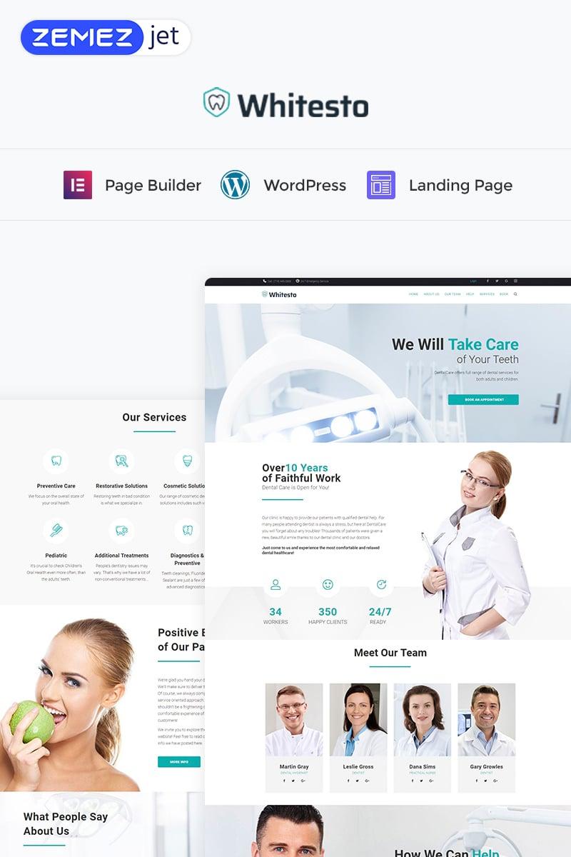Whitesto - Dental Clinic Elementor WordPress Landing Page Template