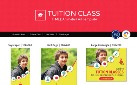 Education & Institute | Tuition Class Ad Animated Banner