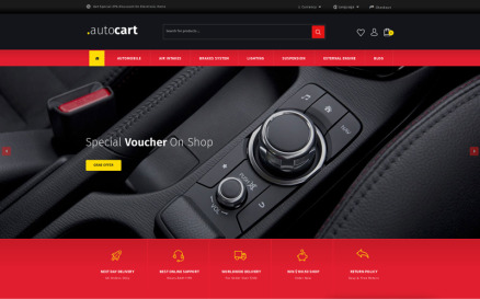 AutoCart - Spare Parts Store OpenCart Template