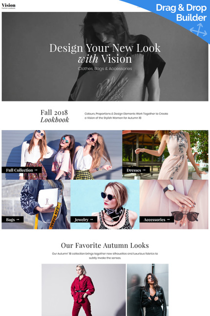 Website Design Template 73584 - lookbookstore