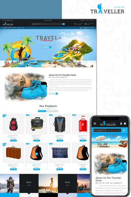 Website Design Template 73585 - fashion apparel prestashop theme multistore unique