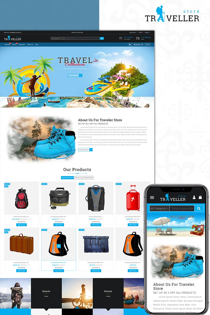 Website Design Template 73585 - bags fashion apparel prestashop theme multistore unique