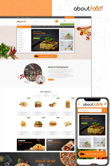 Website Design Template 73588 - vegetable fresh fruits prestashop theme