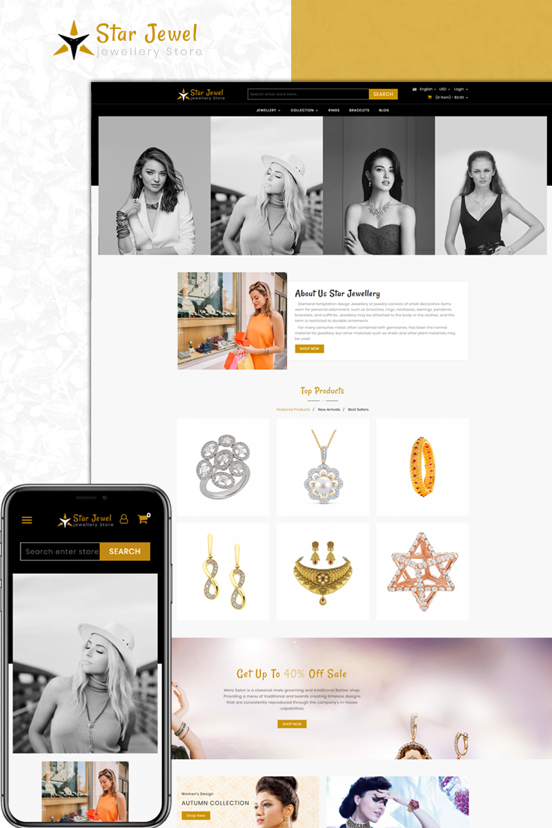 Website Design Template 73589 - apparel accessories prestashop theme fashion