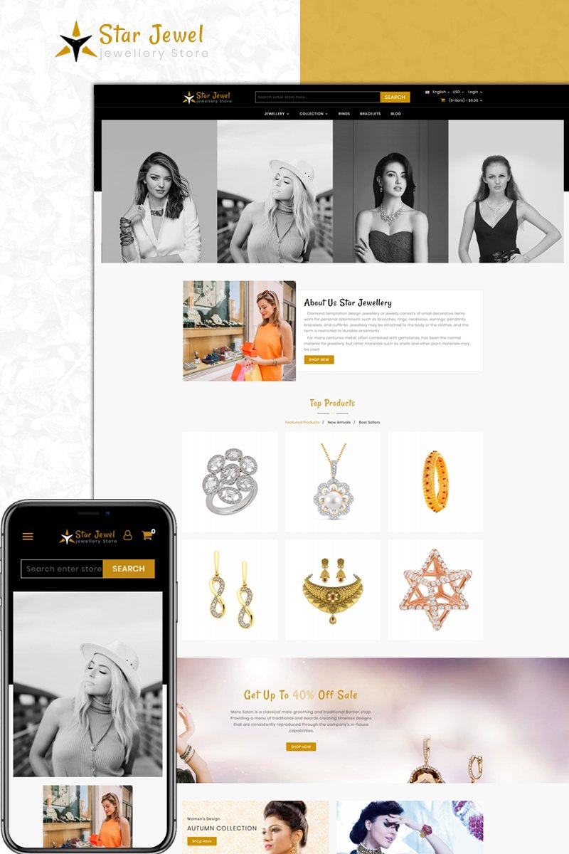 Website Design Template 73589 - store apparel accessories prestashop theme fashion