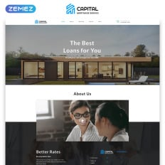 Single page business templates templatemonster capital solid mortgage company html parallax landing page template wajeb Image collections