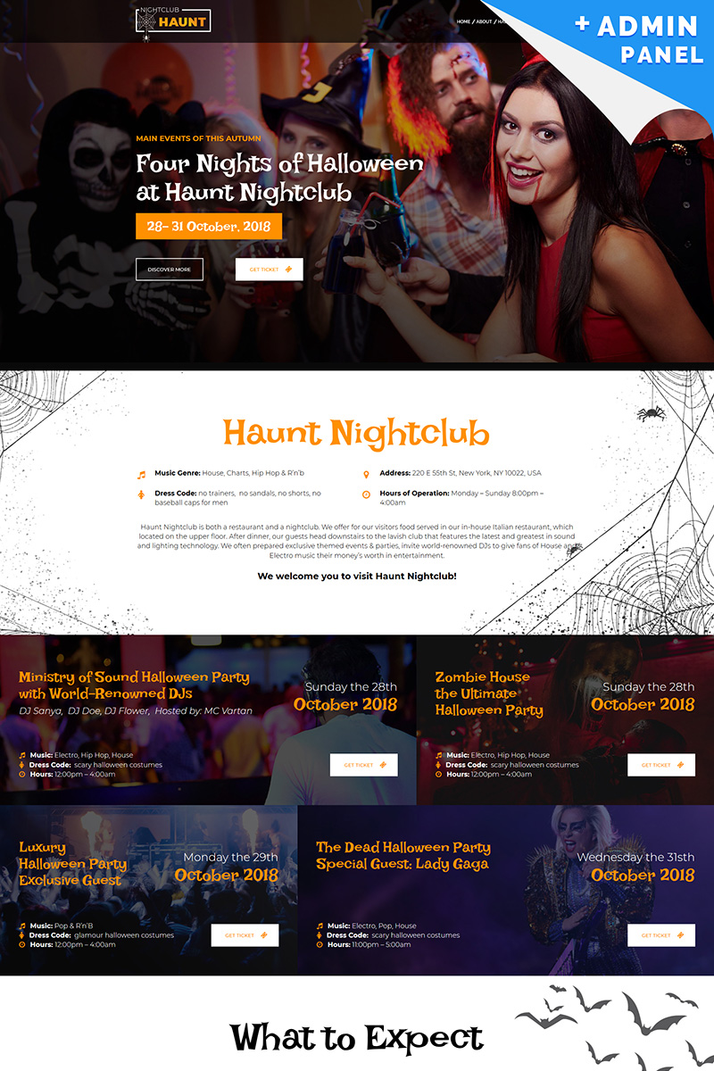 """Halloween"" Responsive Landingspagina Template №73570"