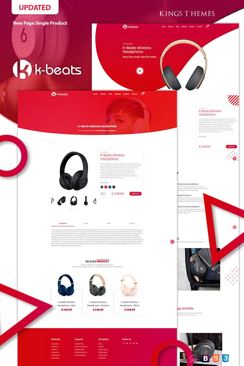 K-beats Landing Page Template