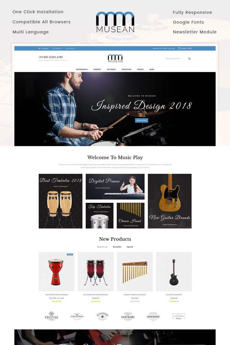 Musean - Musical Store OpenCart Template - screenshot