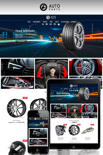 Responsives PrestaShop Theme für Autoteile
