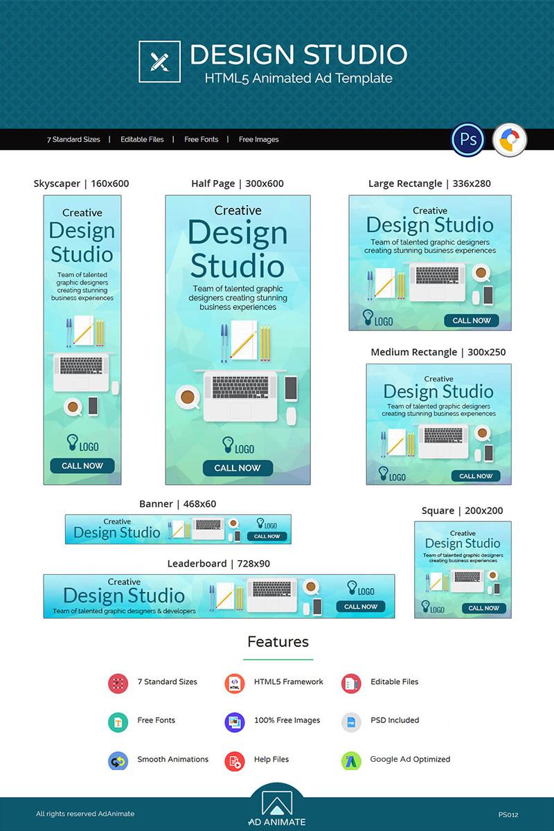 """Professional Services | Design Studio Ad"" Animated Banner #73542"