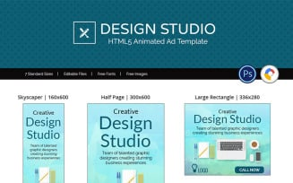 Professional Services   Design Studio Ad Animated Banner
