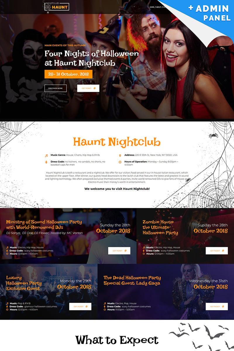 Responsywny szablon Landing Page Halloween #73570