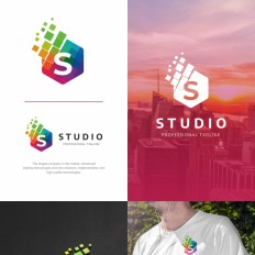 Business logos studio s letter logo template 73523 friedricerecipe Choice Image