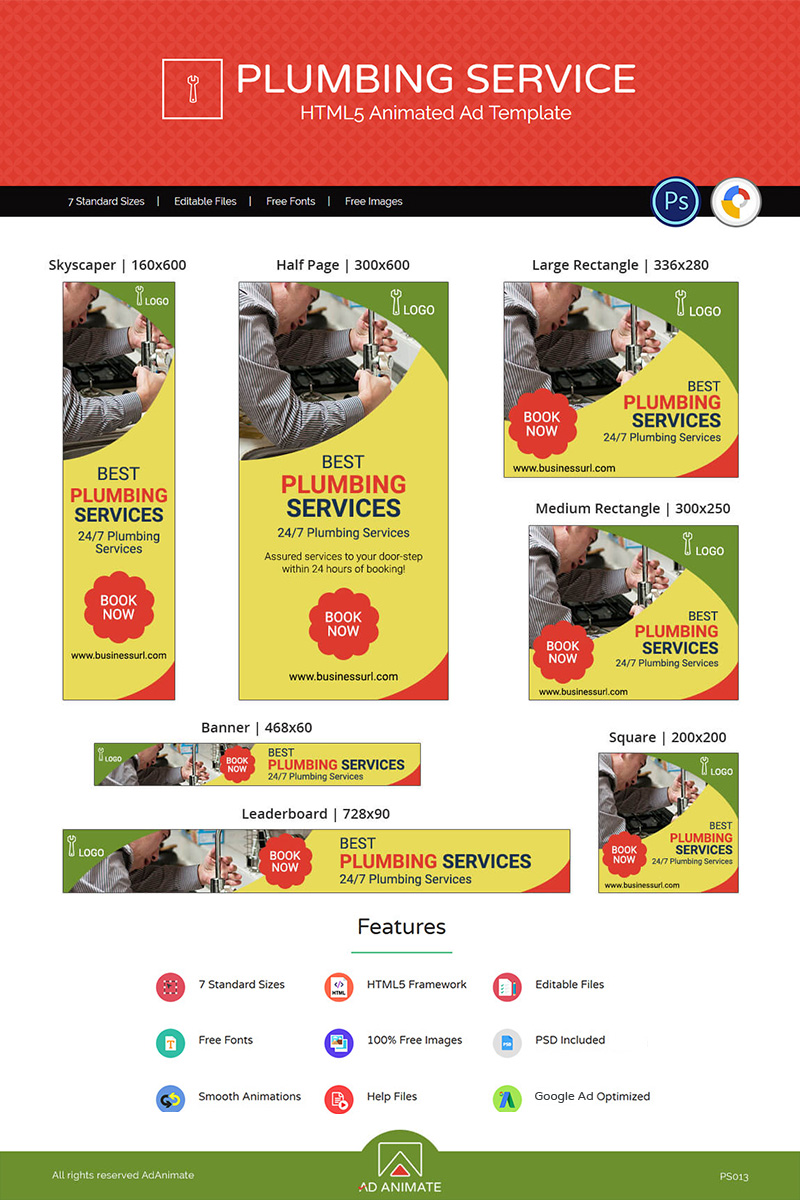 """Template Animated Banner #73564 """"Professional Services 