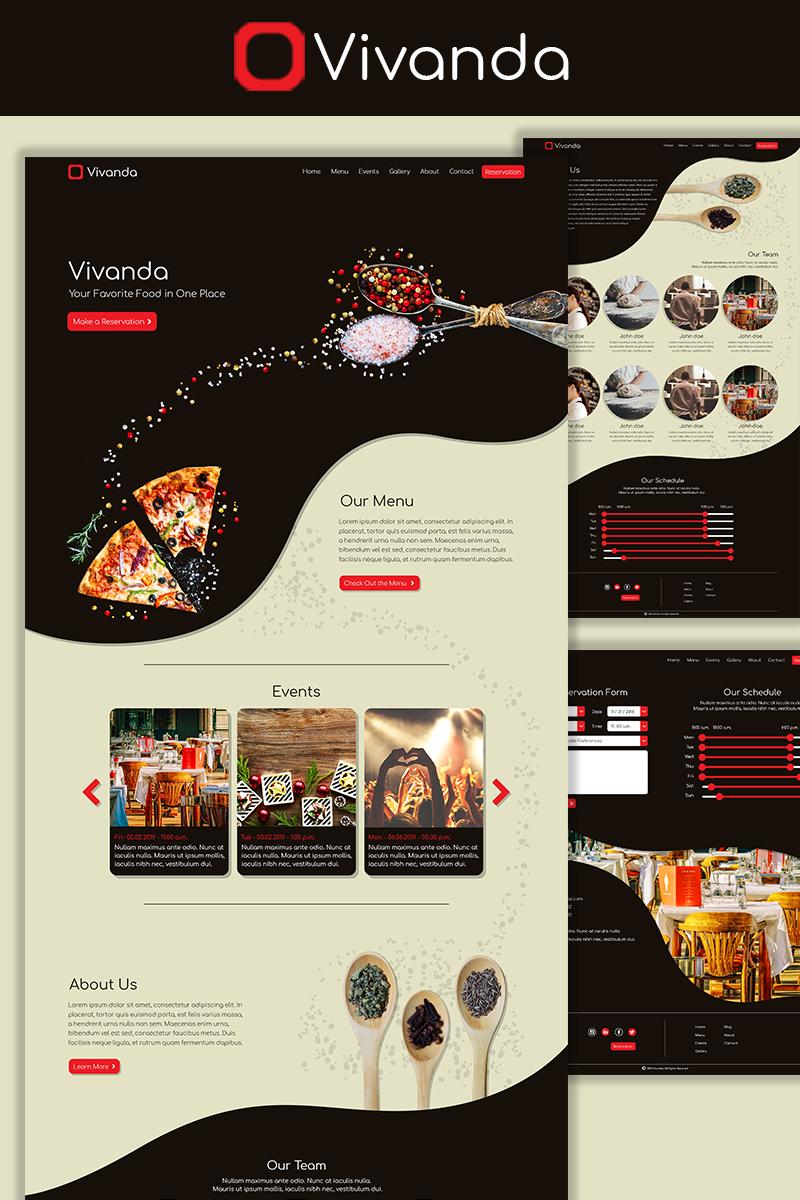 """Vivanda - Restaurant"" PSD模板 #73572"