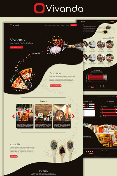 Vivanda - Restaurant PSD Template #73572