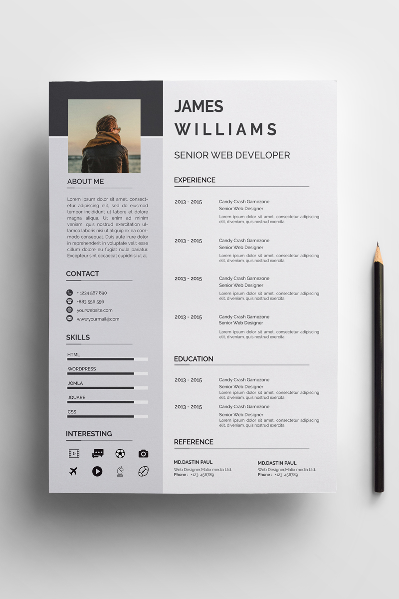 williams clean resume template  73598