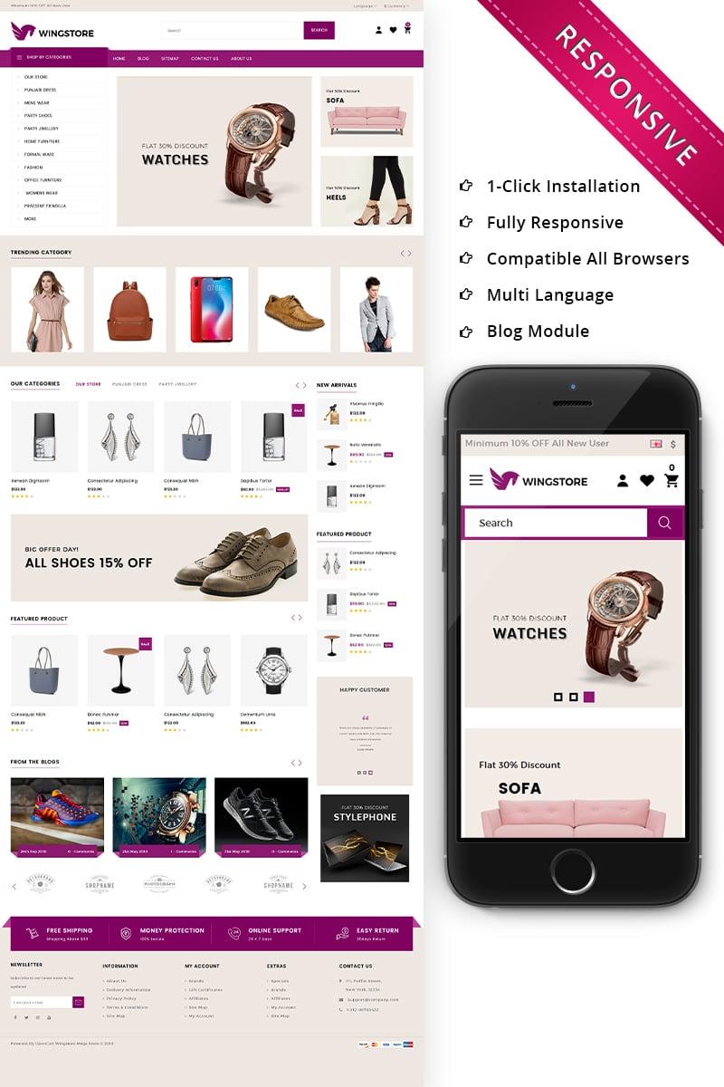 Wingstore - Mega Shop Responsive OpenCart Template - screenshot