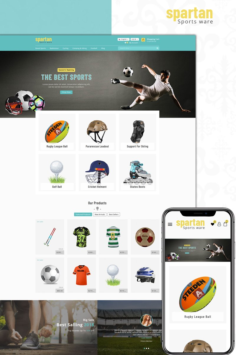Website Design Template 73600 - wear store fashion equipment apparel costume prestashop theme