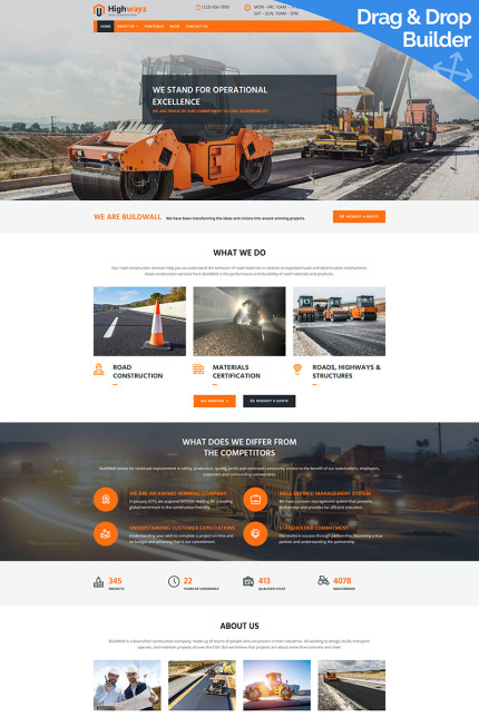 Website Design Template 73601 - industrial