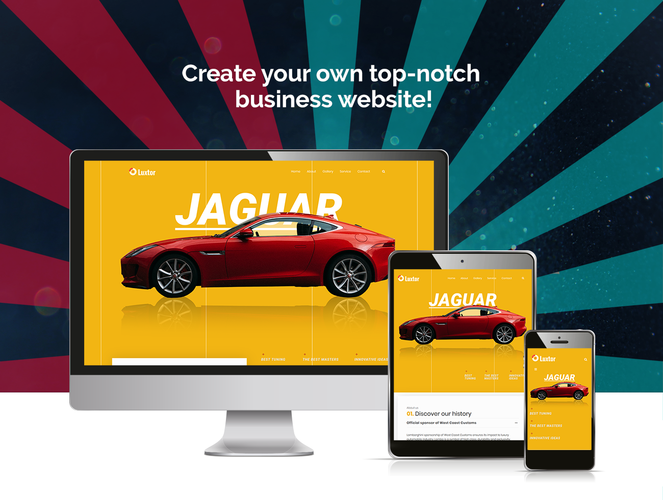 Website Design Template 73611 - repair garage workshop tuning motorcycles wheels tires mechanic transmission brake radiator automotive seo business company premium responsive