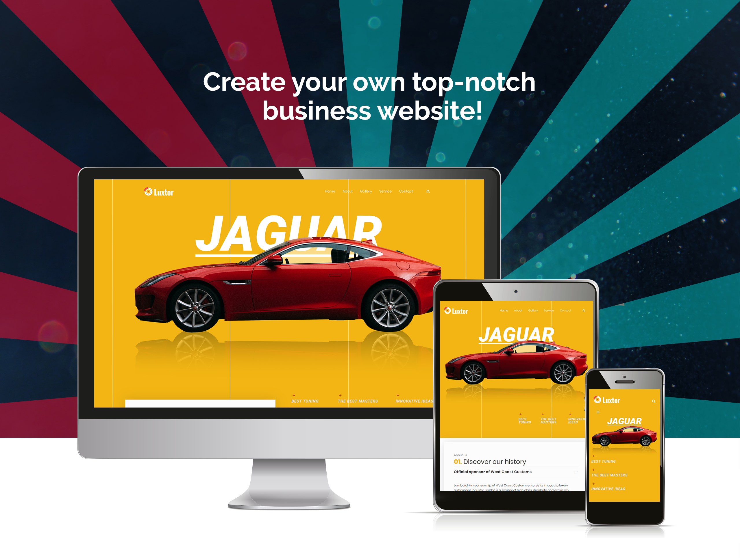 Website Design Template 73611 - garage workshop tuning motorcycles wheels tires mechanic transmission brake radiator automotive seo business company premium responsive