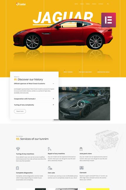 Website Design Template 73611 - wheels tires mechanic transmission brake radiator automotive seo business company premium responsive