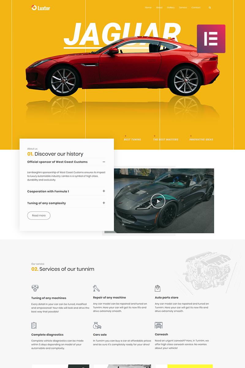 Luxor - Car Tuning Elementor WordPress Theme