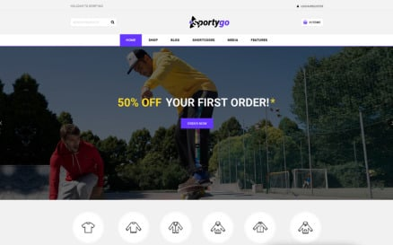 SportyGo - Sports Shop WooCommerce Theme