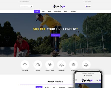 SportyGo - Sports Shop WooCommerce Theme