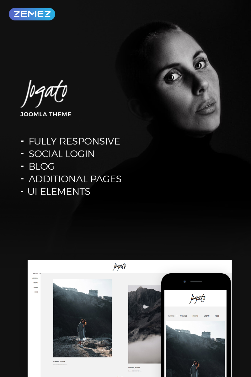 Website Design Template 73617 - joomla photographer portfolio projects showcase videographerundefined