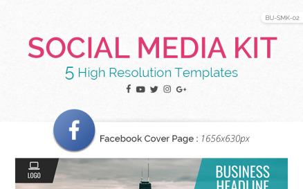 Logix Social Media Kit - Facebook, Twitter, YouTube, Instagram & Google+